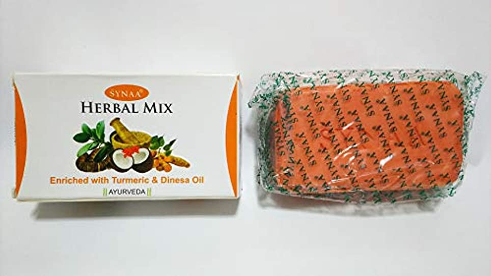 クリープ余分な無法者SYNAA HERBAL MIX enriched with Turmeric& Dinesa Oil