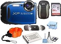 Fujifilm FinePix xp80防水デジタルカメラ2.7インチ液晶ディスプレイ付きビデオカメラ+ 64GBメモリカード+手首フローティングストラップ+交換用NP - 45バッテリー向けバンドルキット
