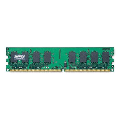 バッファロー PC2ー5300(DDR2ー667)対応 DDR2 SDRAM 240Pin用 DIMM 1GB 1式