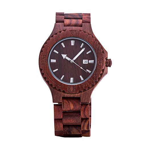 ケノンWomens Wood Watchレッドサンダルウッド...