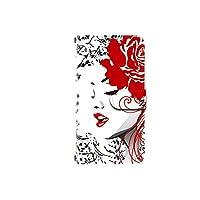 Xperia Z1 SOL23 対応 全機種対応 高品質印刷 デザイン手帳 手帳型 カメラ穴搭載 ダイアリー スマホケース スマホカバー レザー 横開き ケース カバー 女性 花柄 デザインE
