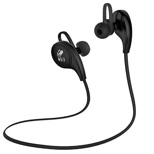 SoundPEATS〔白黒2色〕QY8 Bluetooth イヤホン 高音質[メーカー直販/1年保証付]Bluetooth 4.1 apt-Xコーデック採用 防水防滴 スポーツ イヤホン マイク内蔵 ハンズフリー通話 CVC6.0ノイズキャンセリング機能 ブルートゥース イヤホン Bluetooth ヘッドホン ワイヤレス イヤホン ブラック