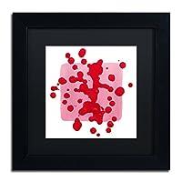 ピンクの正方形ホワイトby Amy Vangsgard、ブラックマット、ブラックフレーム11x 11インチ