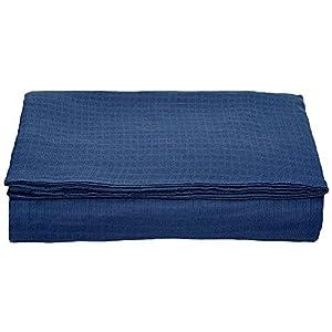 (セシール)cecile 寝具カバー ダブルガーゼの掛け布団カバー ネイビー シングル CR-1053 CR-1053