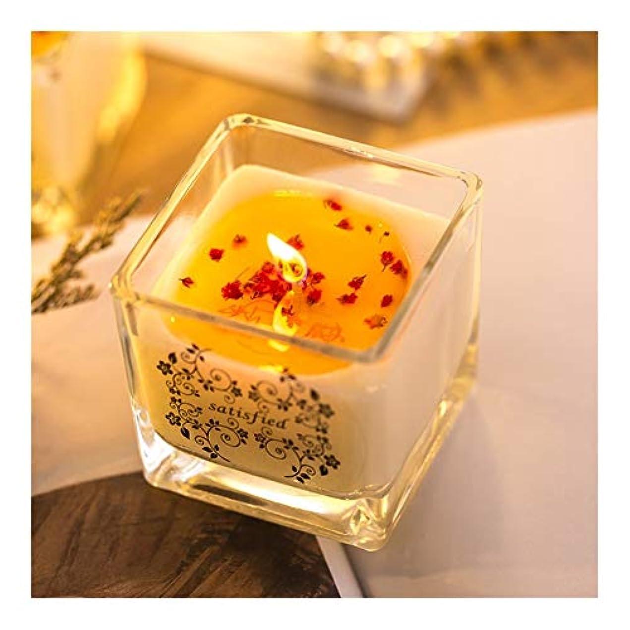 尽きるどれ保護するACAO 手作りアロマセラピー大豆キャンドルロマンチックな結婚結婚ガラスの花びら輸入無煙エッセンシャルオイルキャンドル卸売 (色 : Lime)