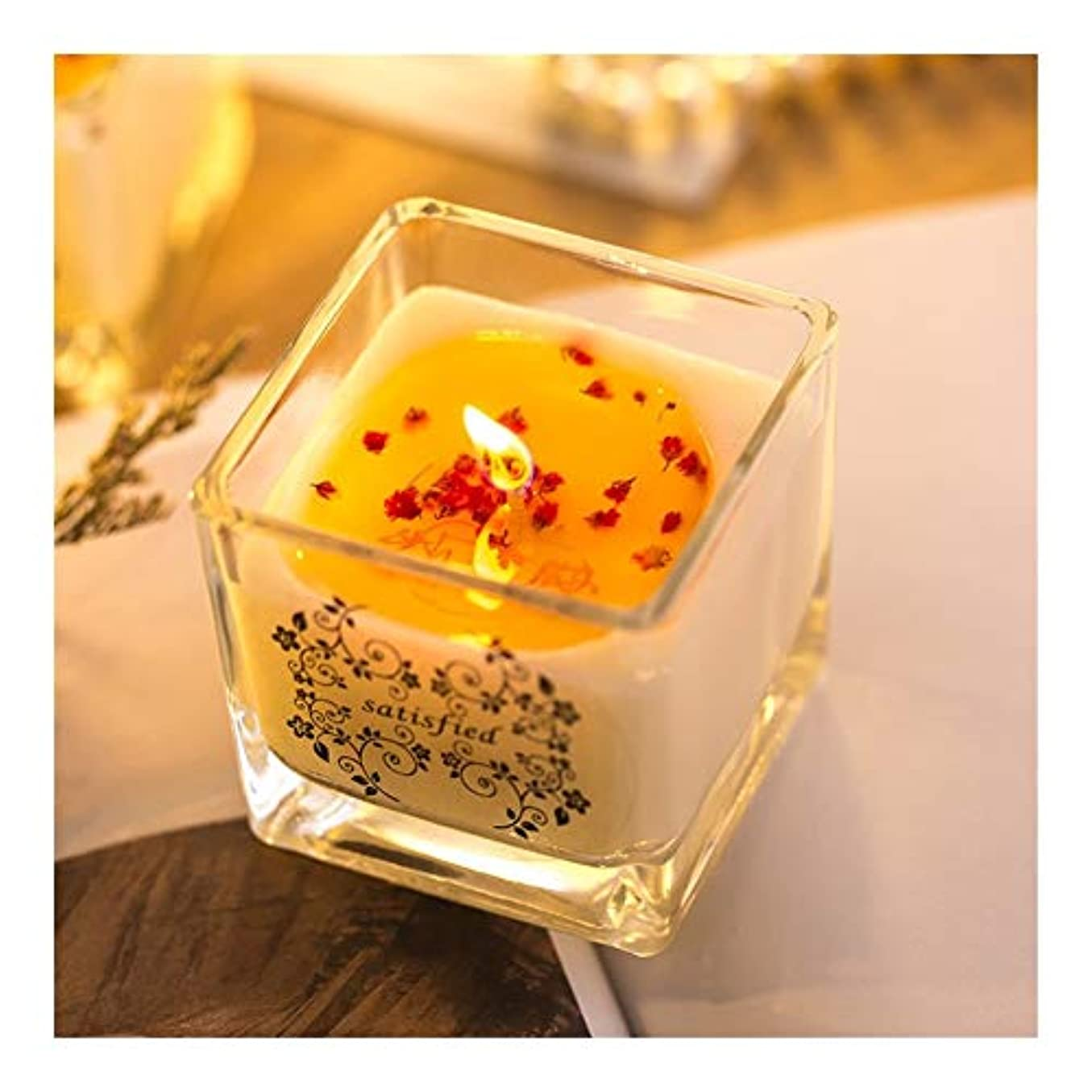 和エキサイティング雑品Ztian 手作りアロマセラピー大豆キャンドルロマンチックな結婚結婚ガラスの花びら輸入無煙エッセンシャルオイルキャンドル卸売 (色 : Green tea)