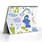 Surface go 専用スキンシール サーフェス go ノートブック ノートパソコン カバー ケース フィルム ステッカー アクセサリー 保護 梅雨 雨 虹 013442