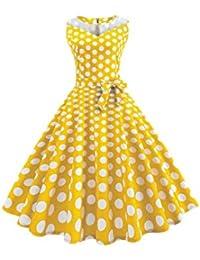 YACUNレディース ワンピース ドレス 半袖 格子縞 1950 年代 レトロ Aライン ベルト付き カクテル 結婚式 パーティー