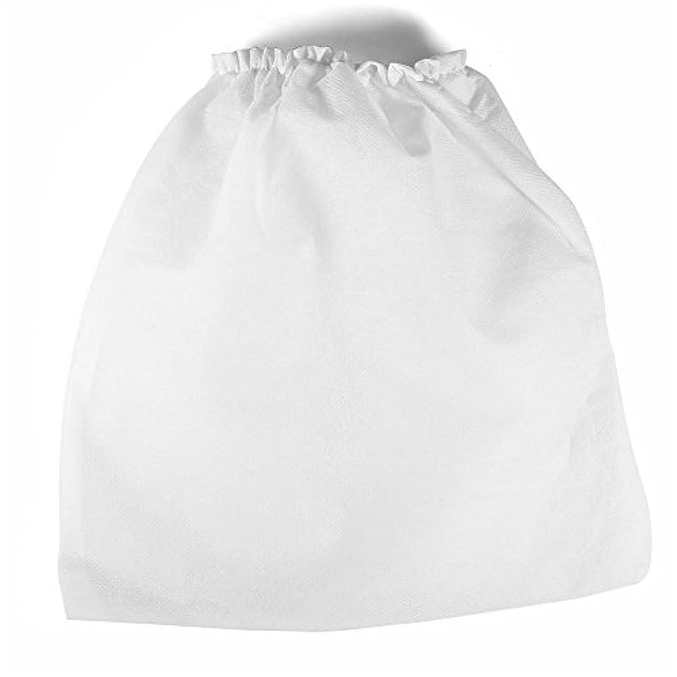 掃除機バッグ、10個の不織布ファブリック高密度ネイルクリーナー交換バッグ、ネイルアートダストコレクションサロンツール用の超広幅弾性バンド付き