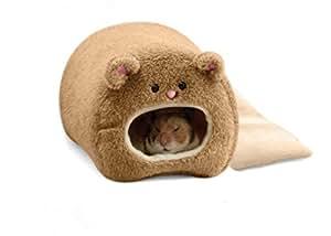 Outfun ハンモック フェレット ウサギ ラット ハムスター 暖かい 吊り ベッド クマ おもちゃ 家