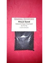 Ritual砂のブラックカラーセージしみキット、Abaloneシェル、Offering Bowls、Incense Burners Baked and Sageクレンジングの純度