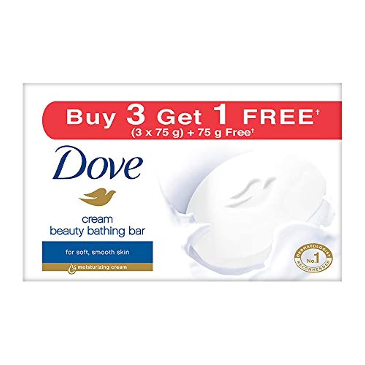 制裁アトミック横向きDove Cream Beauty Bathing Bar, 4x75g