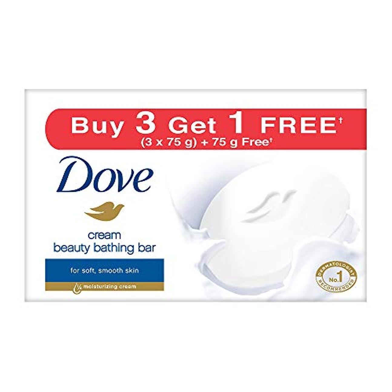 マリン痴漢誇張Dove Cream Beauty Bathing Bar, 4x75g