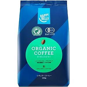 【Amazonオリジナル】 Happy Belly オーガニックコーヒー 粉 350g