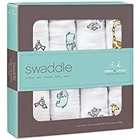 押さえつける、1パックジャングルジャム4 (Aden & Anais) (x 6) - Aden + Anais Swaddle, Jungle Jam 4 per pack (Pack of 6) [並行輸入品]
