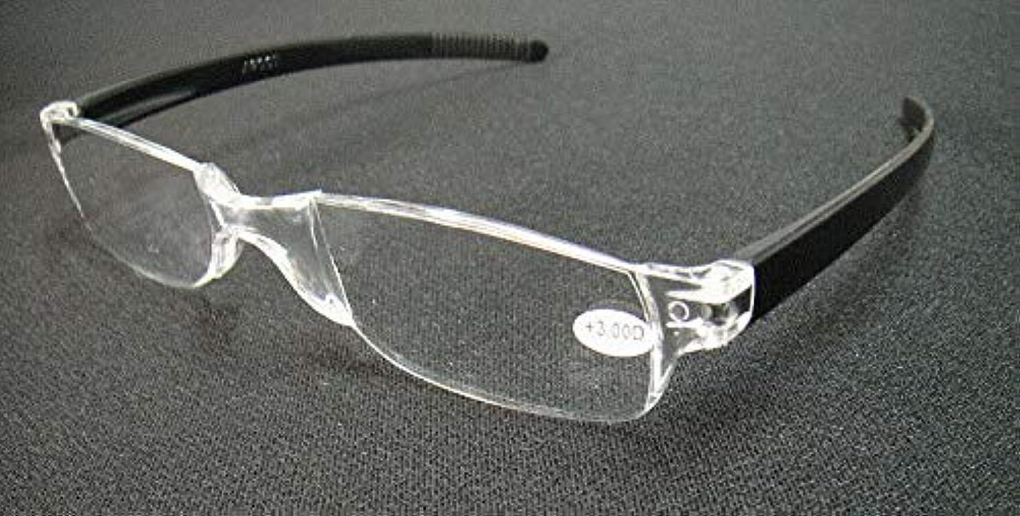 FidgetGear 携帯用縁なし老眼鏡リーダー眼鏡+1.0 1.5 2.0 2.5 3.0 3.5 4.0 ブラック