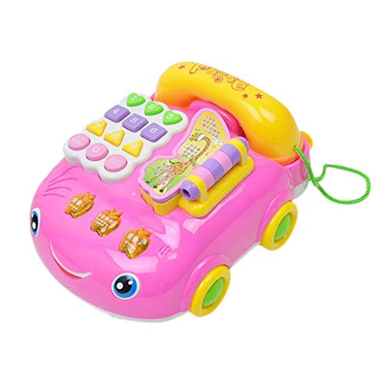 KESOTO 音楽 車のおもちゃ 電話玩具 素晴らしい 贈り物 可愛い  高品質 贈り物 持ちやすい ピンク