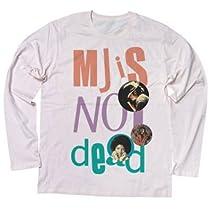 """マイケル・ジャクソンは永遠です パンクスには馴染みの文句""""PUNK IS NOT DEAD""""。こいつをスーパースター、マイケルにかけたデザイン ロングスリーブ Tシャツ (XL, SHERBETPINK)"""