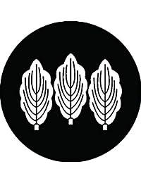 家紋シール 三枚並び柏紋 布タイプ 直径40mm 6枚セット NS4-1619