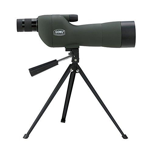 高牧 フィールドスコープ スポッティングスコープ 単眼望遠鏡 20X-60Xの倍率 60mm口径 光学レンズ 防水防霧 三脚付属 月・野鳥観察 狩猟・撮影 スポーツ観戦など  直視型 (グリーン)