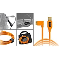 Starter Tethering Kit w/TetherPro USB 3.0 to Micro-B Right Angle Cable,15' (4.6m),High-Visibility Orange [並行輸入品]