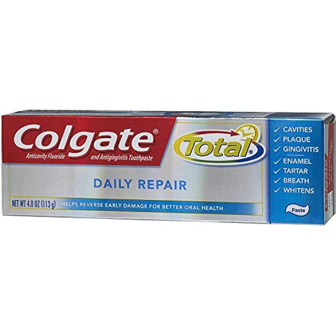 祈るチャット絶滅Colgate 全日修理歯磨き粉4オズ(2パック)