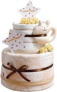 今治タオル imabari towel 出産祝い 日本製 オーガニック 2段 バスタオル おむつケーキ シフィール