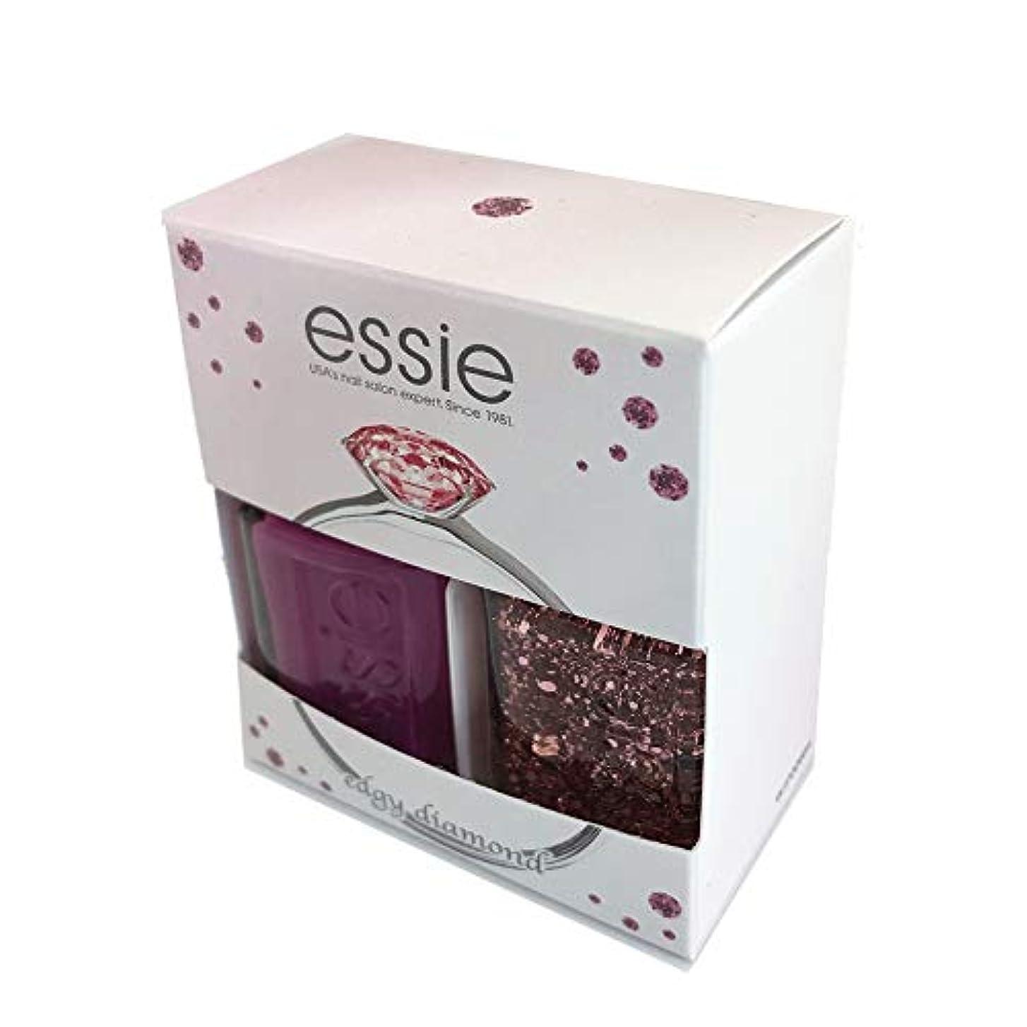 無礼に過剰ご意見Essie(エッシー) ネイルポリッシュ エッジーダイアモンド キット (2本セット)