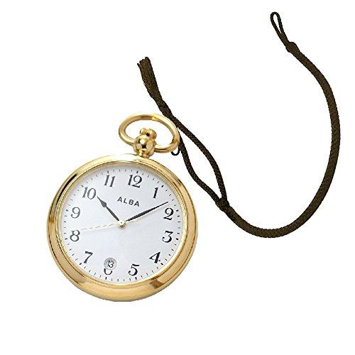 [해외][세이코 알바 (SEIKO ALBA) 회중 시계 AQGK446와 회중 시계 전용 끈 HBR-2 후사 아리사 (브라운) 세트/[Seiko Alba] (SEIKO ALBA) Pocket watch AQGK 446 and pocket watch special cord HBR-2 tasseless (brown) set