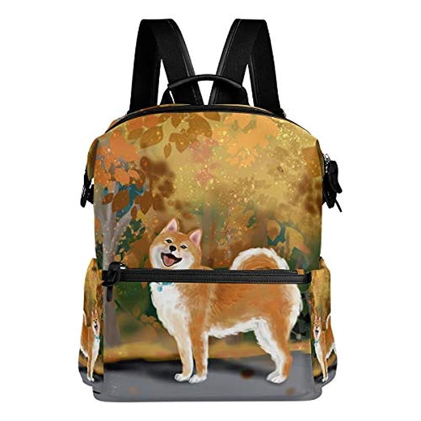サミット資格情報十代VAWA リュック レディース 大容量 おしゃれ かわいい 柴犬柄 秋の絵画 リュックサック 軽量 防水 多機能 バッグ 通勤 通学 旅行用