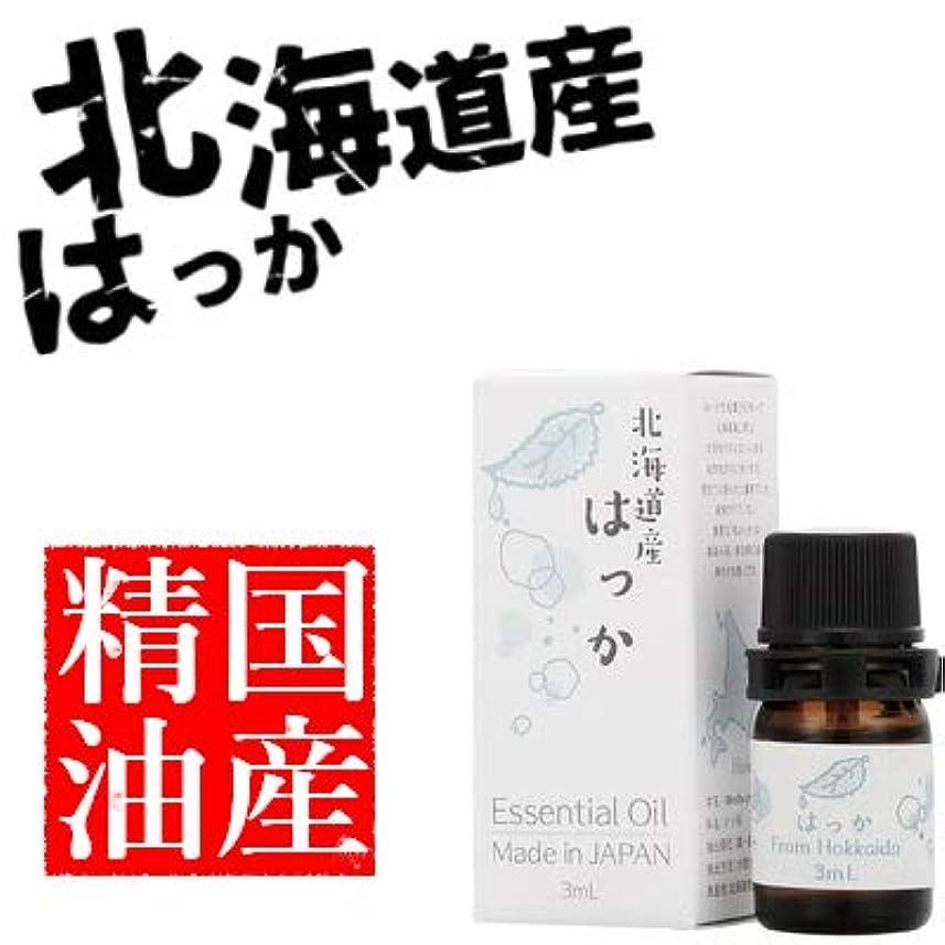 効率的宿泊施設干し草日本の香りシリーズ はっか エッセンシャルオイル 国産精油 北海道産 3ml …