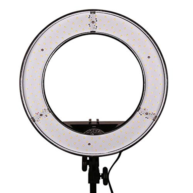 辞任するクリーナー絶え間ないRoscloud@ 12インチのライブフィルライト調光可能なリングの影は、光カメラの写真のメイクを埋めるライブ美しさの目の色の色の明るさの無段階調光を率いて大胆な光スタンドを送ります