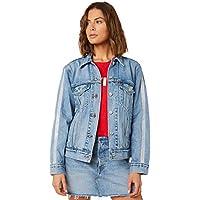 Levi's Women's Levi`S Tux Stripe Ex Bf Trucker Jacket Cotton Blue