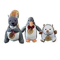 武田コーポレーション アニマルドアストッパー リス・ペンギン・ハリネズミ 3点セット(玄関 室内 ドア かわいい ストッパー 動物 プレゼント ギフト)