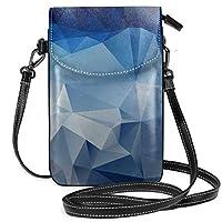 携帯電話財布-女性用小 ポリゴンピクチャーズアブストラクトクロスボディバッグハンドバッグ
