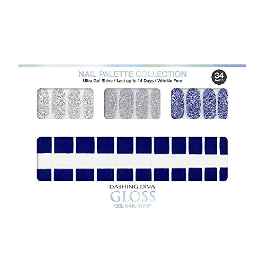 社会主義苦難群れダッシングディバ グロスジェル ネイルストリップ DASHING DIVA Gloss Gel Nail Strip DGNP12-DURY+ オリジナルジェル ネイルシール Ice #12 Deep River