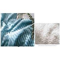 SUNNY ふわふわスローブランケットダブル/ツインサイズ - スーパーソフトベッドスプレッド - マイクロファイバーソファベッドブランケット (色 : 青, サイズ さいず : 150x200cm)