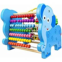 動物 ライオン ルーピング チャンピオン 多機能 そろばん 木のおもちゃ  (ブルー)