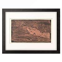 ポール・ゴーギャン Eugene Henri Paul Gauguin 「Te Po, ca. 1893-1894.」 額装アート作品