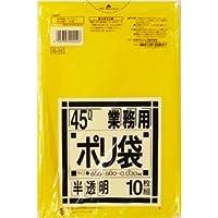 (まとめ) 日本サニパック 業務用ポリ袋 黄色半透明 45L G-22 1パック(10枚) 【×30セット】
