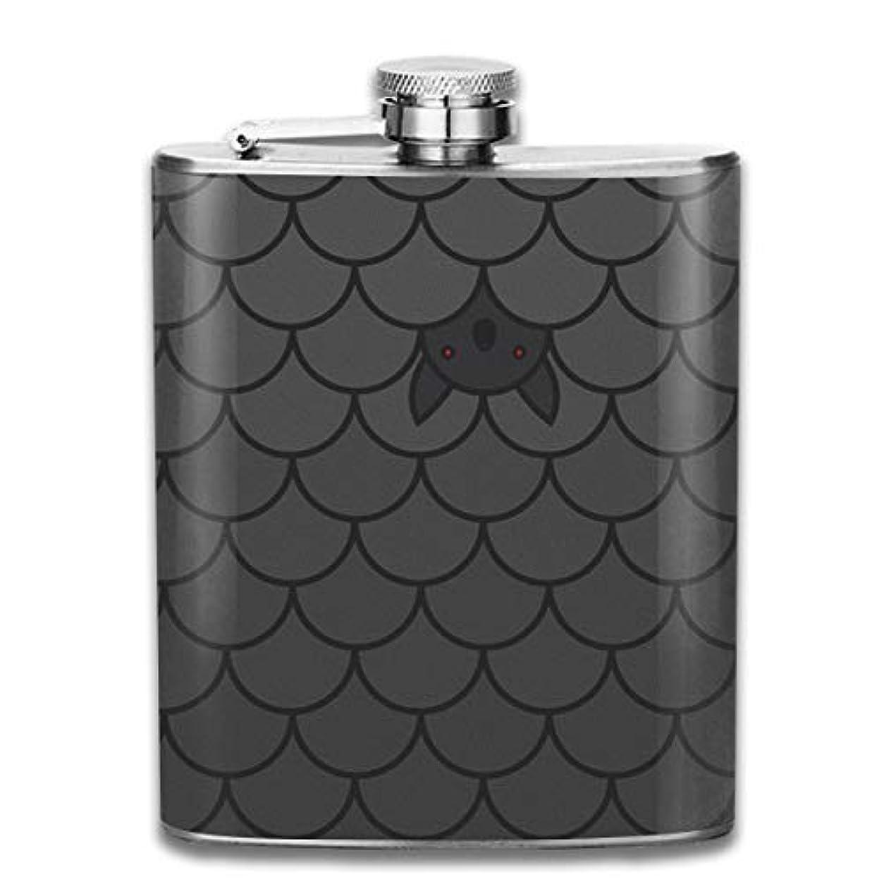 銀行登録する法律コウモリ フラスコ スキットル ヒップフラスコ 7オンス 206ml 高品質ステンレス製 ウイスキー アルコール 清酒 携帯 ボトル