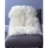 MQ ムートン 天然 シープスキン ラグマット ラグカーペット 羊皮 暖か 柔らか 高級 オーストラリア産-アイボリー