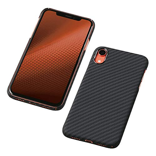Deff(ディーフ) アラミド繊維 超軽量ケース Ultra Slim & Light Case DURO for iPhone XR ケブラー使用 防弾チョッキ素材 (マットブラック)