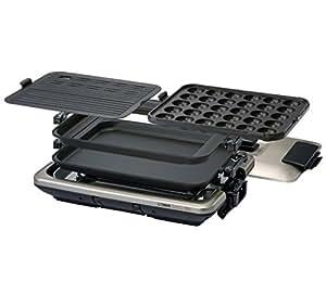 タイガー ホットプレート 「これ1台」 平面・たこ焼き・焼肉プレート付き メタリックブラウン CPV-G130-TH