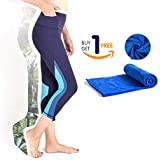 QUEEN FOREVER Yoga Pants for Women High Waist Squat Proof with 2 Pockets Tummy Control Stretch Workout PilatesHiking Activewe