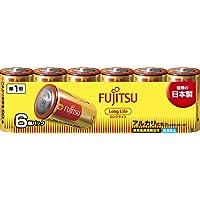 富士通 【Long Life】 アルカリ乾電池 単1形 1.5V 6個パック 日本製 LR20FL(6S)