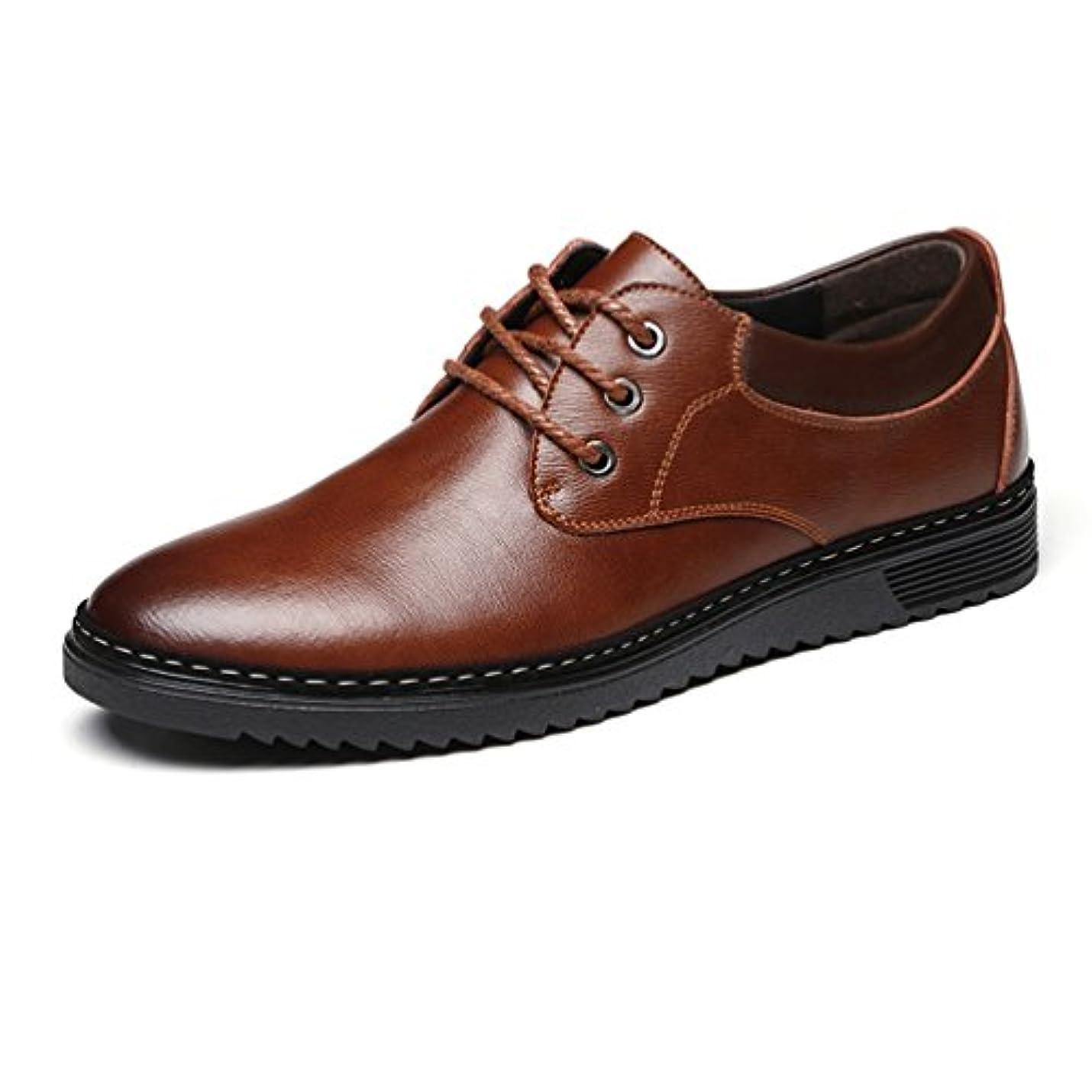 国おしゃれな聴覚障害者ビジネスシューズ メンズ 革靴 レースアップ カジュアルシューズ ウォーキング 通気 通勤 厚底靴 柔らかい 夏用 デッキシューズ ローカット 紳士靴 オールシーズン 軽量 透湿 防滑 ブラック ブラウン