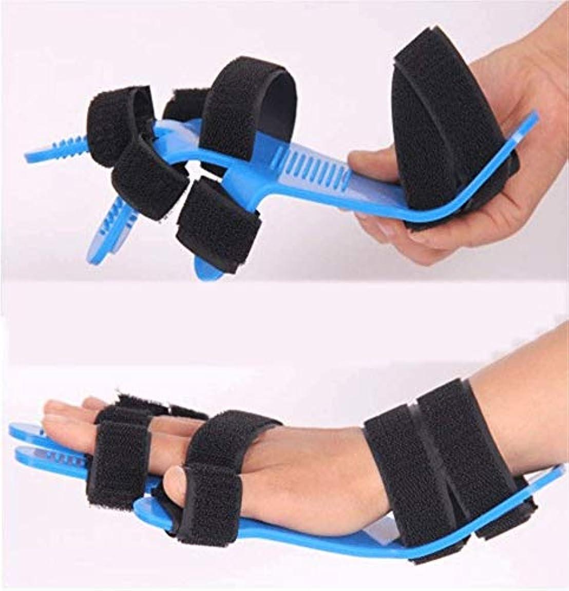 平行足音びっくりした拡張スプリントフィンガーセパレーターインソール、ばね指スプリント、指の骨折、傷、術後ケアと痛みレリーフ可鍛性ハンドスプリント指のサポートを指