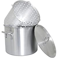 Cajun調理器具24-quartアルミStock Pot withバスケットとふた – gl10171