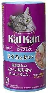 カルカンウィスカス まぐろとたい(3缶パック) 160g*3P